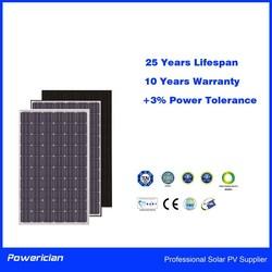 Powerician 260Wp Poly Solar Panel 0~+3% Power Tolerance
