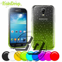 Ultra High Quality Raindrops Transparent Clear Gradient TPU Soft Phone Case For Samsung Galaxy S4 mini factory price