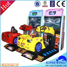 Amazing! adults and kids love best speed driver racing game coin operated car racing
