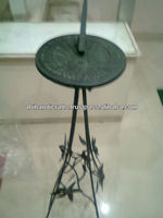 """Cast Iron Sundial With Wrought Iron Stand 31"""" 1703"""