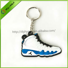 soft-pvc air jordan shoes sneaker shaped keychain