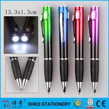 new gift 2015 pen brand name led light ballpoint pen