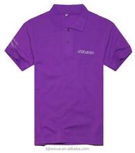 china factory new fashion 100% cotton purple embroidery polo shirt polo t shirt