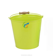 Galvanized metal garden water bucket/barrels with lid