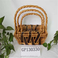 gifts crafts wicker basket with lid wicker gift basket wicker fruit basket rectangular wicker storage basket
