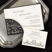 Top grade branded metal laser cut wedding invitation card