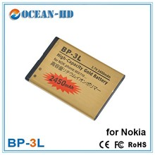 High capacity gold battery for Nokia BP-3L original mobile phone accessories