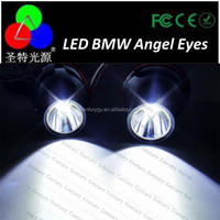 HOT Sale KIT For BMW LED MARKER Angel Eyes 3w high power 12v kit Halo E39 E53 X5 E60 E61 E63 87 SILVER