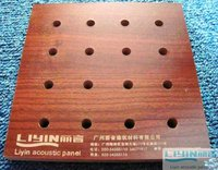 Curtain Wall Board Wooden Perforated Acoustic Panel Sound Insulation