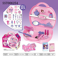 Beauty girls make up play box set, various accessorices diy play toy
