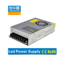 250W 12V/24V constant voltage led power supply with 2 year warranty