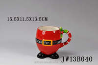 red christmas artistic ceramic cup