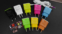 2015 newest arrival color USB charger connect with cable USB adapter for mobile phone tablet