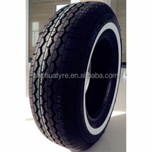 Made in China, Linglong, Triangle brand size 185R14C, 205R15C Wsw white side wall passenger car tyres