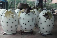 2015 zigong outdoor Life -size robot dinosaur egg