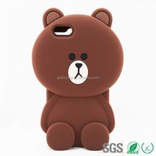 bear mobile phone cover for soft silicone material protective bulk cellphone case for iPhone6
