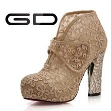 Thick Platform Pumps Fancy Hot Sell Ladies High Heel Shoe