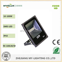 NEW Bridgelux chip+MEANWELL Driver IP65 Outdoor high power led floodlight 50W with 90-277V and UL cUL listed
