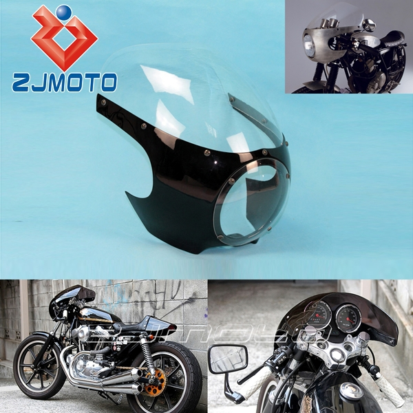 Motorcycle Front Headlight Fairing Cafe Racer Drag Racing 5 3 4