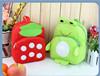 handmade backpack for kids korea style velboa fabric animal pattern funny backpack for baby