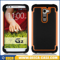 Hard rugged rubber shockproof heavy duty case cover for lg g2
