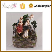 New Polyresin religous holy family statue Water Flow Foutains YLD015B-004