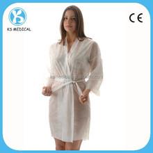 Women nonwoven disposable gown for massage kimono