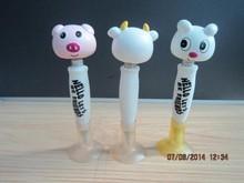 3d new cartoon animal shaped shaking ballpens
