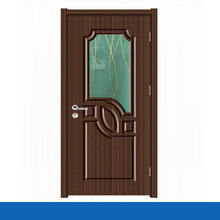 การออกแบบภายในประตูไม้ที่เป็นของแข็งด้วยกระจก
