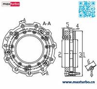 RHV5 Variable Geometry Turbocharger Nozzle Ring VT13 for IHI Turbo 221550 / 135A163 VNT