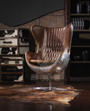 Gentil Model: Aviator Egg Chair,aluminum Egg Chair K616