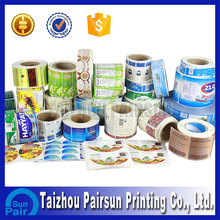 Custom printing self adhesive adhesive sticker label