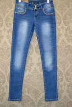 Girl 's fashion skinny long jeans with diamond