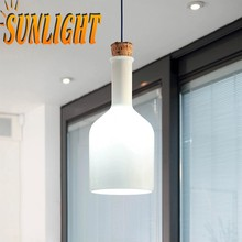 loft modern american glass white bottle chandelier iron funnel moderrn shade Industrial pendant lamp/ chandelier/droplight