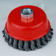 Good quality abrasive polishing tools steel wire cup brush with MPA EN12413
