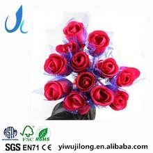 Hot fashion rose designs plastic ballpoint pen good for wedding celebration