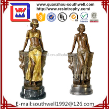2015 Promotional Gift Beautiful Girl Statue Resin Faires Small Figurines Crafts