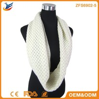 2015 acrylic knit infinity scarf & latest designs fashion knitting scarf