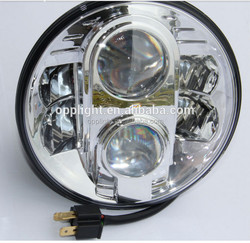 Factory directly sale harley 10-30v dc crees led motorcycle headlight h4