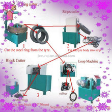 full/semi automatic scrap old waste tire/tyre recycling machine/plant