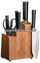 8-Piece Stainless Steel Knife Set with Bamboo Block