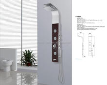DOMO 304 stainless steel thermostatic shower panel/shower column set with waterfall