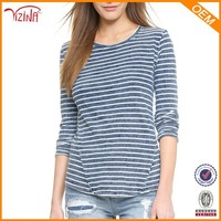 Jinhua YIZINA 100% Cotton Wholesale Striped Full Hand Fashion Long Sleeve T Shirts