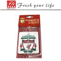 Cheap Custom Football Team Logo Design make hanging paper car air freshener