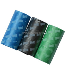 Colorful HDPE material wholesale eco friendly pet dog waste bag