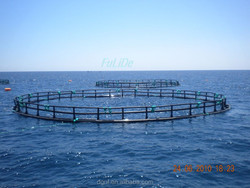 HDPE floating pipe fish farming aquaculture equipment system fishing cage tanks