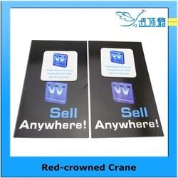 logo printed mobile self adhesive screen cleaner