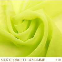 Silk Georgette Fabric 8momme 114cm Width 100% silk tulle fabric Pure Silk Fabric Manufacturer Yellow