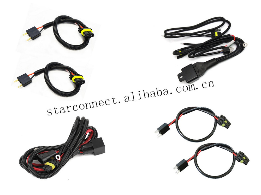 universial light wire harness male female connector