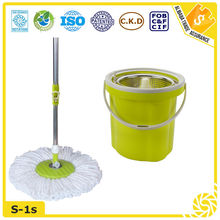 fashion easy life stainless steel hand press roundmop and bucket set